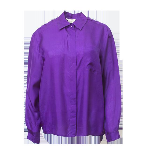Violetti silkkipaita
