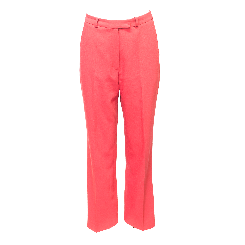Punaiset suorat housut