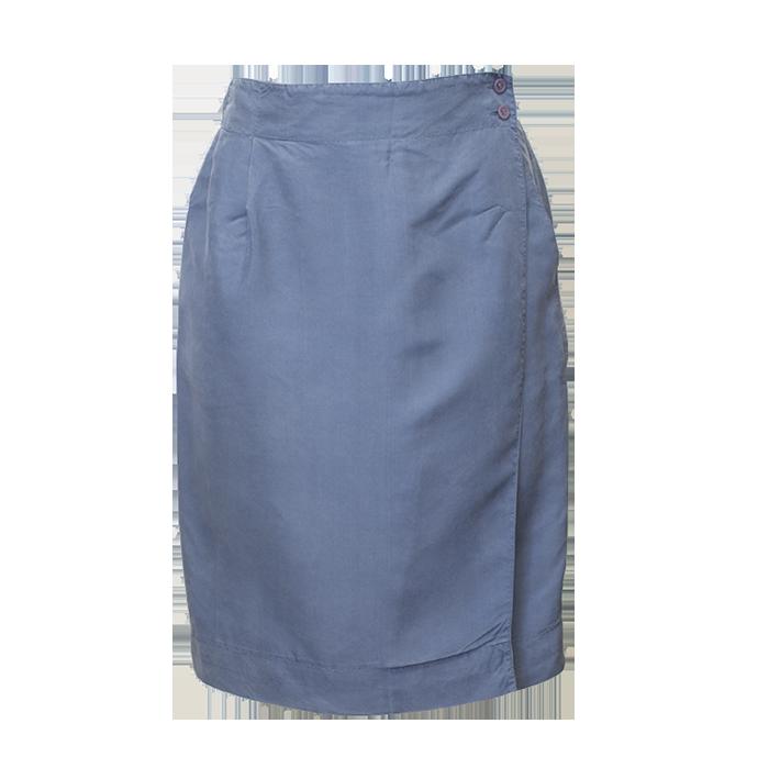 sininen silkkihame