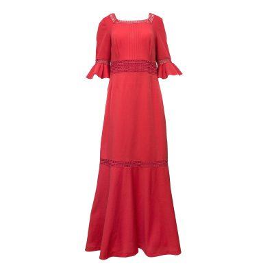 pitkä punainen mekko