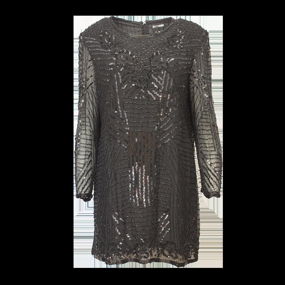 helmikirjailtu mekko
