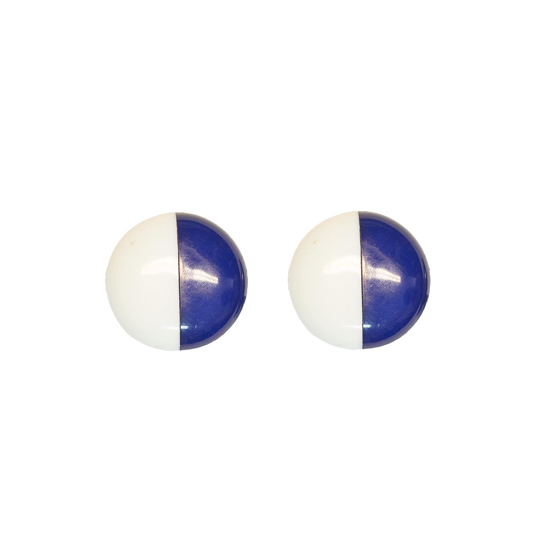 sini-valkoiset korvakorut