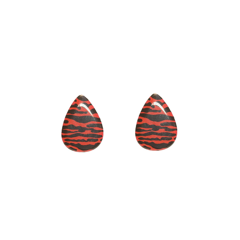 puna-mustat korvakorut