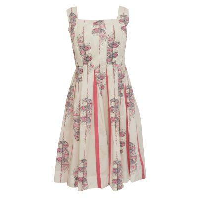 kellohelma mekko 50-luvulta