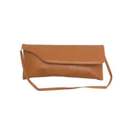 ruskea kirjekuorilaukku