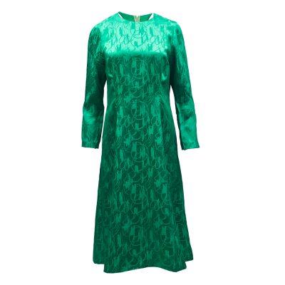 vihreä silkkimekko