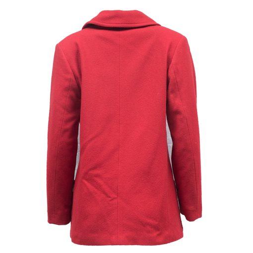 punainen villakangastakki