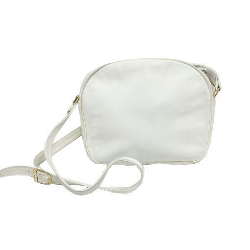 valkoinen nahkalaukku