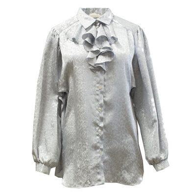 hopeanvärinen pusero