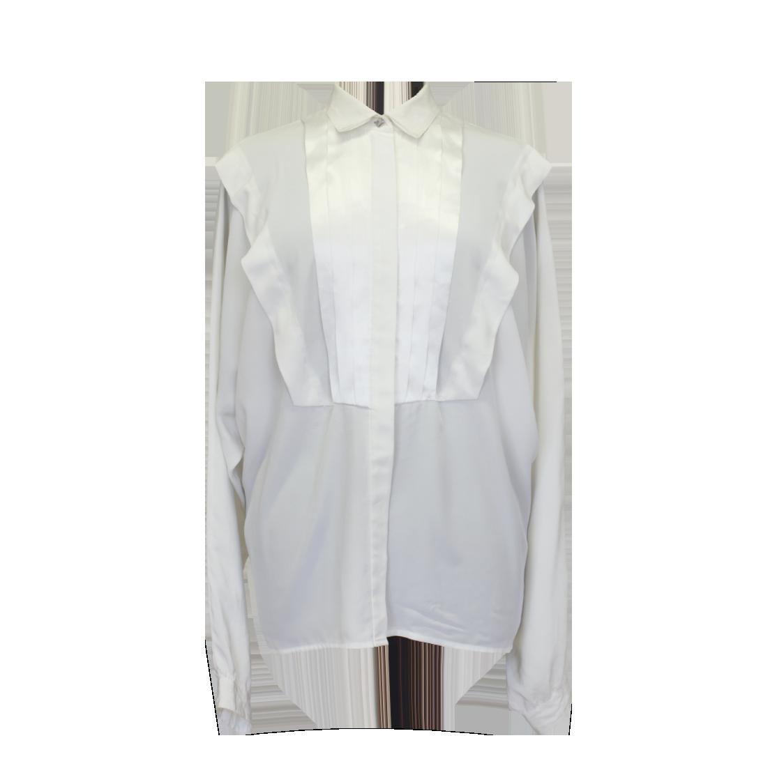 Serge Nancel, valkoinen vintage-pusero - 40