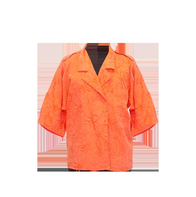 Tru Blouse, oranssinpunainen safaripaita - 40