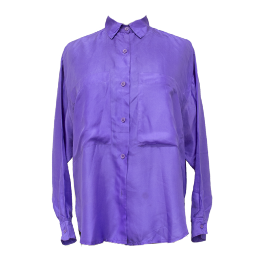 Special Notice, violetti silkkipaita - S