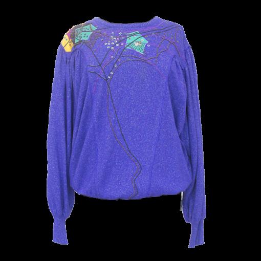 Marc D'alcy, violetti silkkineule 80-luvulta - M