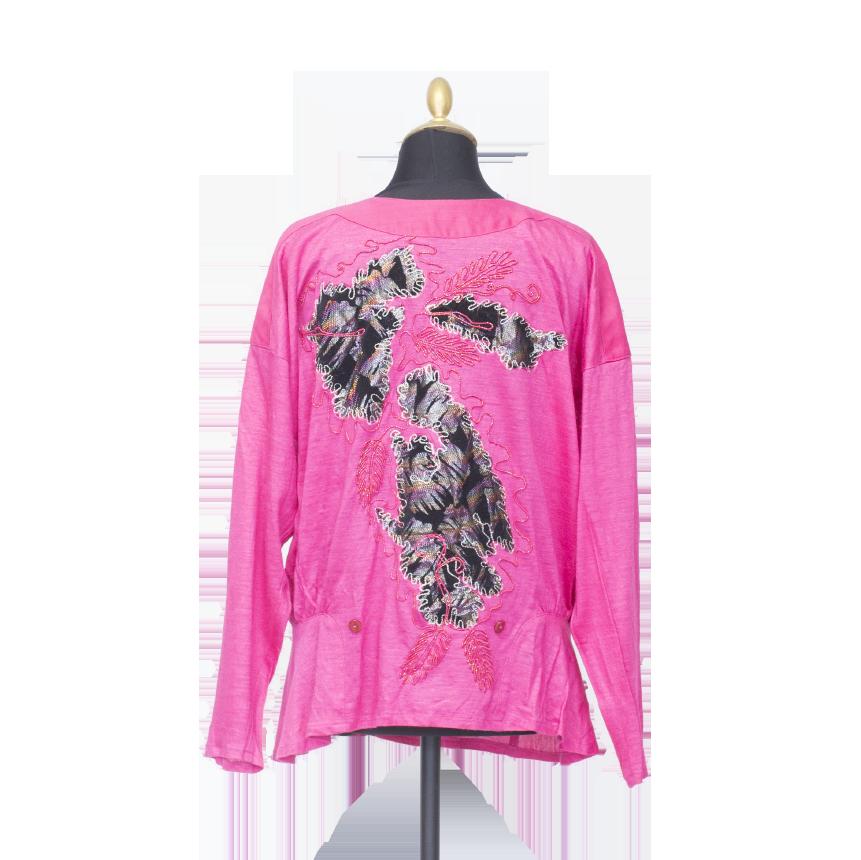 Option, pinkki koristeellinen pusero - 40/42
