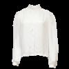 Pola, kotimainen valkoinen satiinipusero - C36