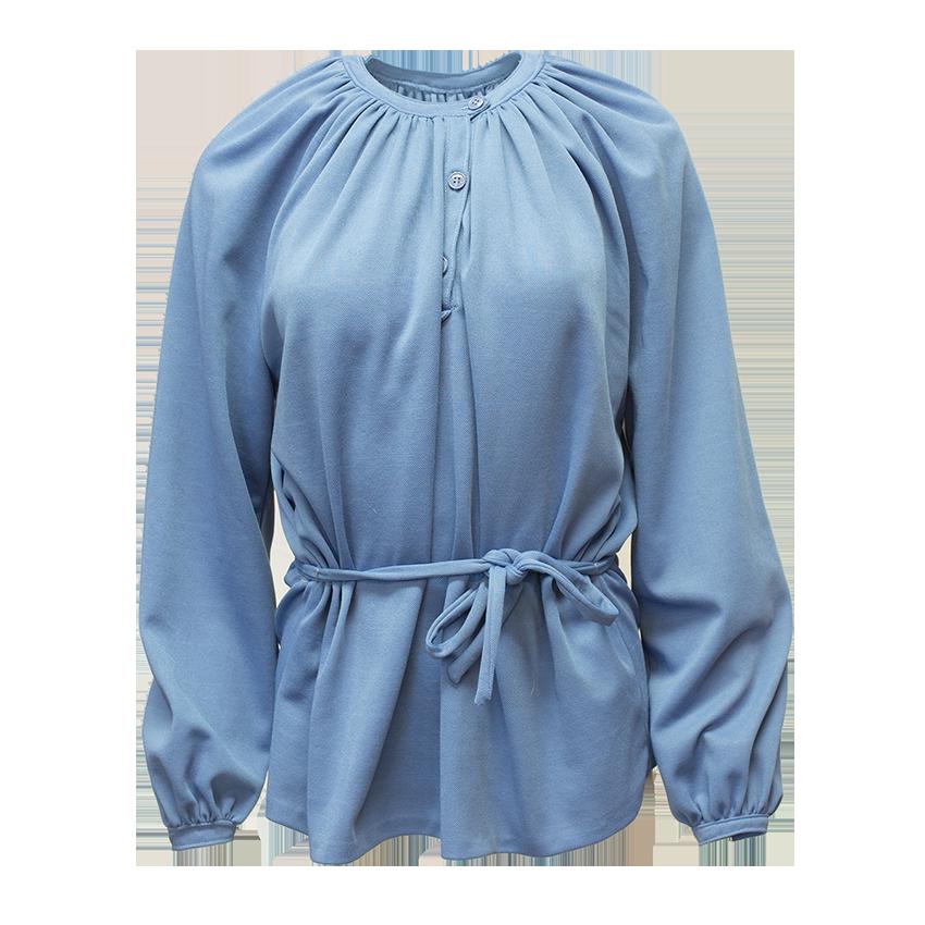 Käsin tehty sininen pusero - XL