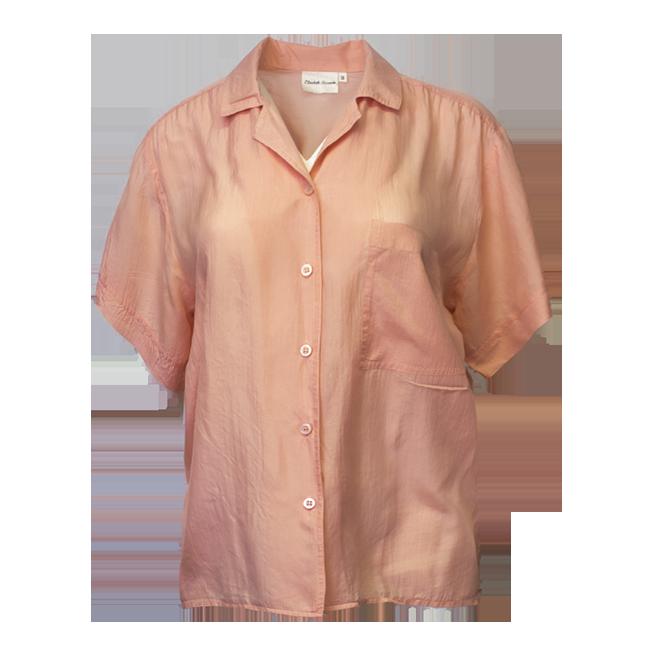 Elisabeth Shannon, vaaleanpunainen silkkipaita - 38