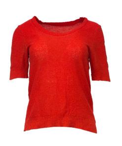 Punainen neulottu paita - M