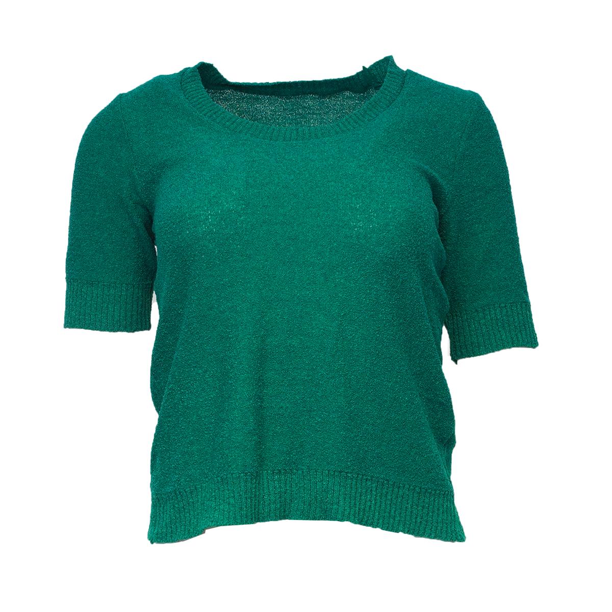 Vihreä neulottu paita - S