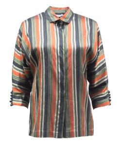 Thai Silk, raidallinen silkkipaita 80-luvulta - 38/40