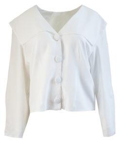 Valkoinen viskoosipusero 80-luvulta - 42