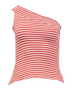 Raidallinen one shoulder -toppi - S