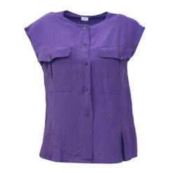 Hihaton violetti silkkipaita - L