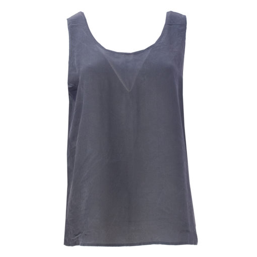 Efra, tummansininen silkkitoppi - XL/XXL
