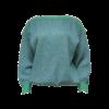 Italialainen vihreä lurex-neule - L/XL