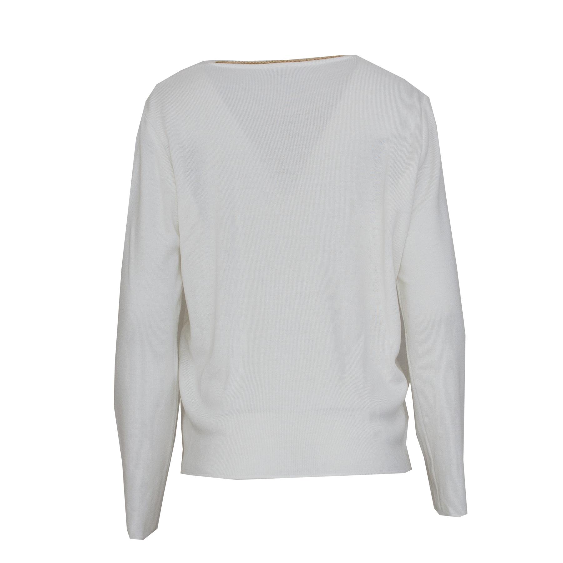 Lucia, valkoinen neuletakki - M/L