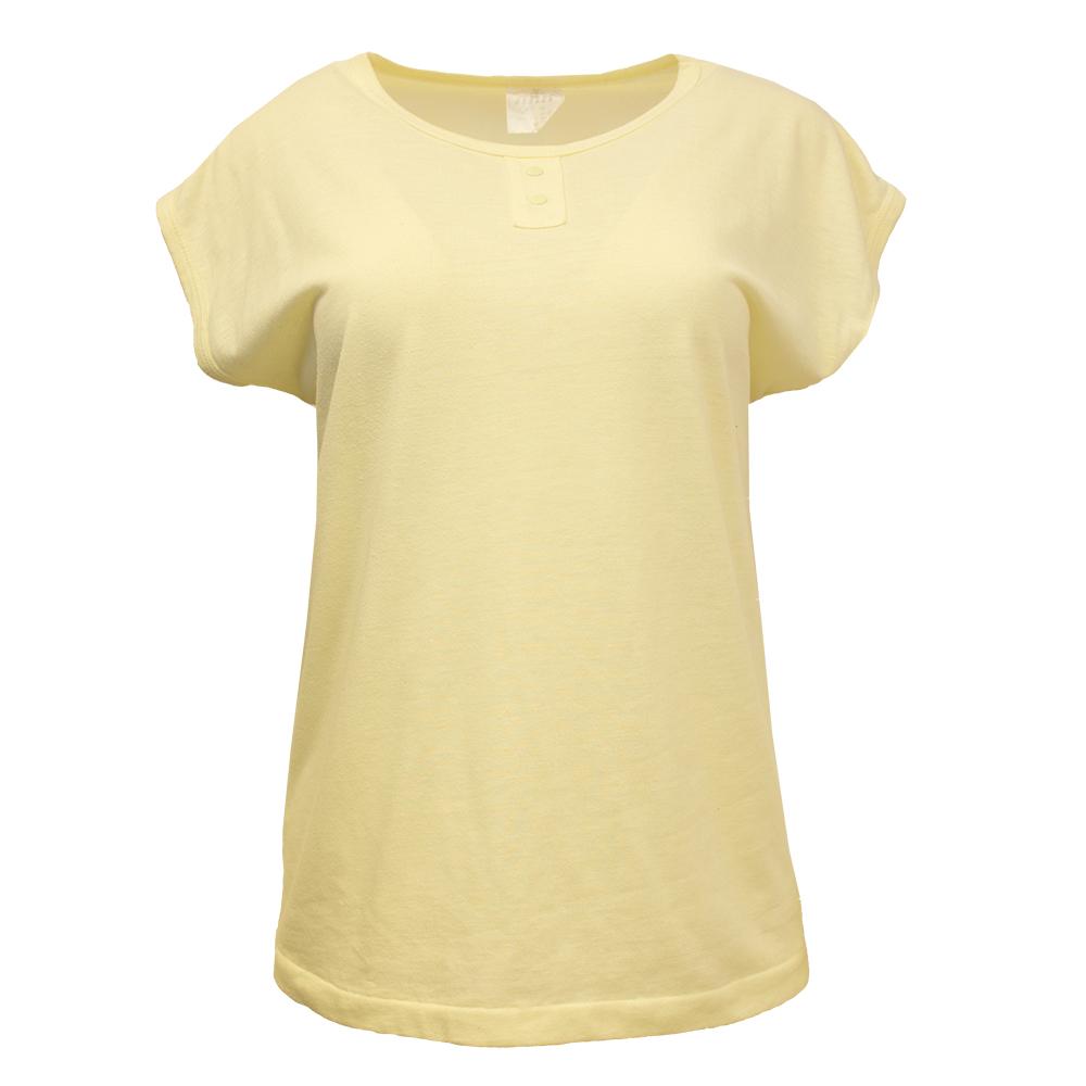 Miss Ann, vaaleankeltainen T-paita 80-luvulta - M