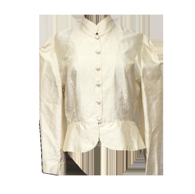 Vaalea silkkijakku/-paita - 38