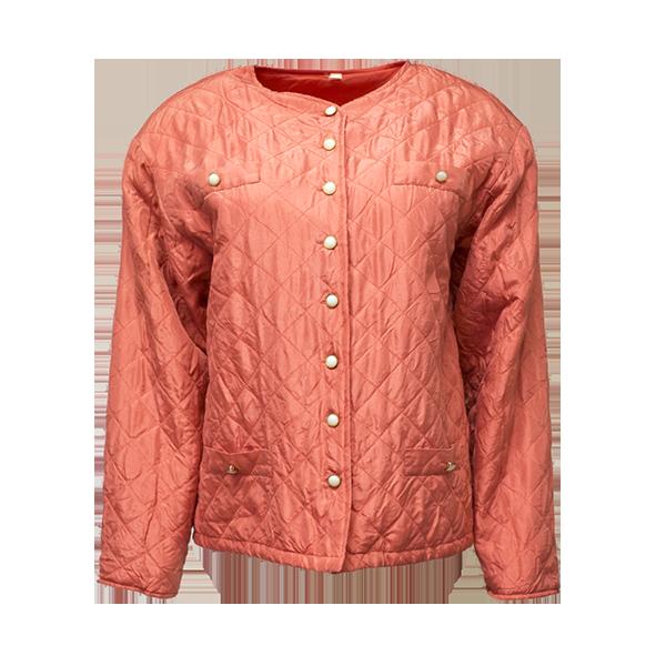 Vaaleanpunainen silkkijakku - L