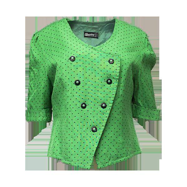 Sporting Dress, vihreä polka dot -jakku - 38/40