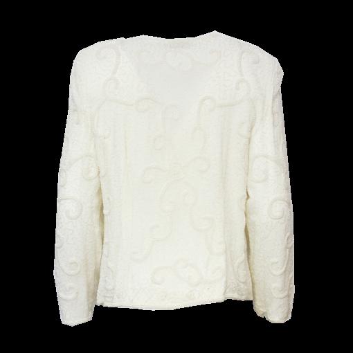 Lyndella, valkoinen helmikirjailtu jakku - 40