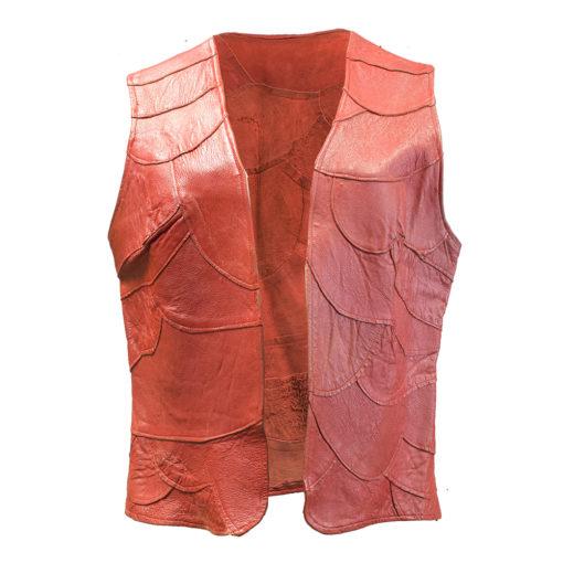 Punainen nahkaliivi - L