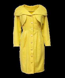 Keltainen vintage-puku - 38