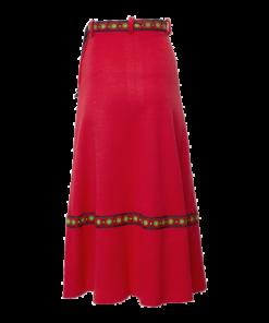 Zalekua, kotimainen pitkä punainen hame - 34