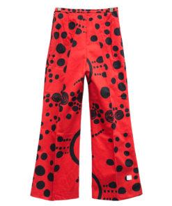 Naisten pukutehdas, punaiset housut 70-luvulta - 32/34