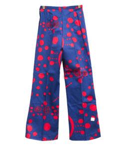 Naisten pukutehdas, siniset housut 70-luvulta - 32/34