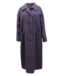 Milgo Oy, musta-violetti villakangastakki - 38/40