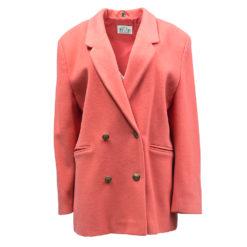Time Collection, korallinpunainen villakangastakki - 44