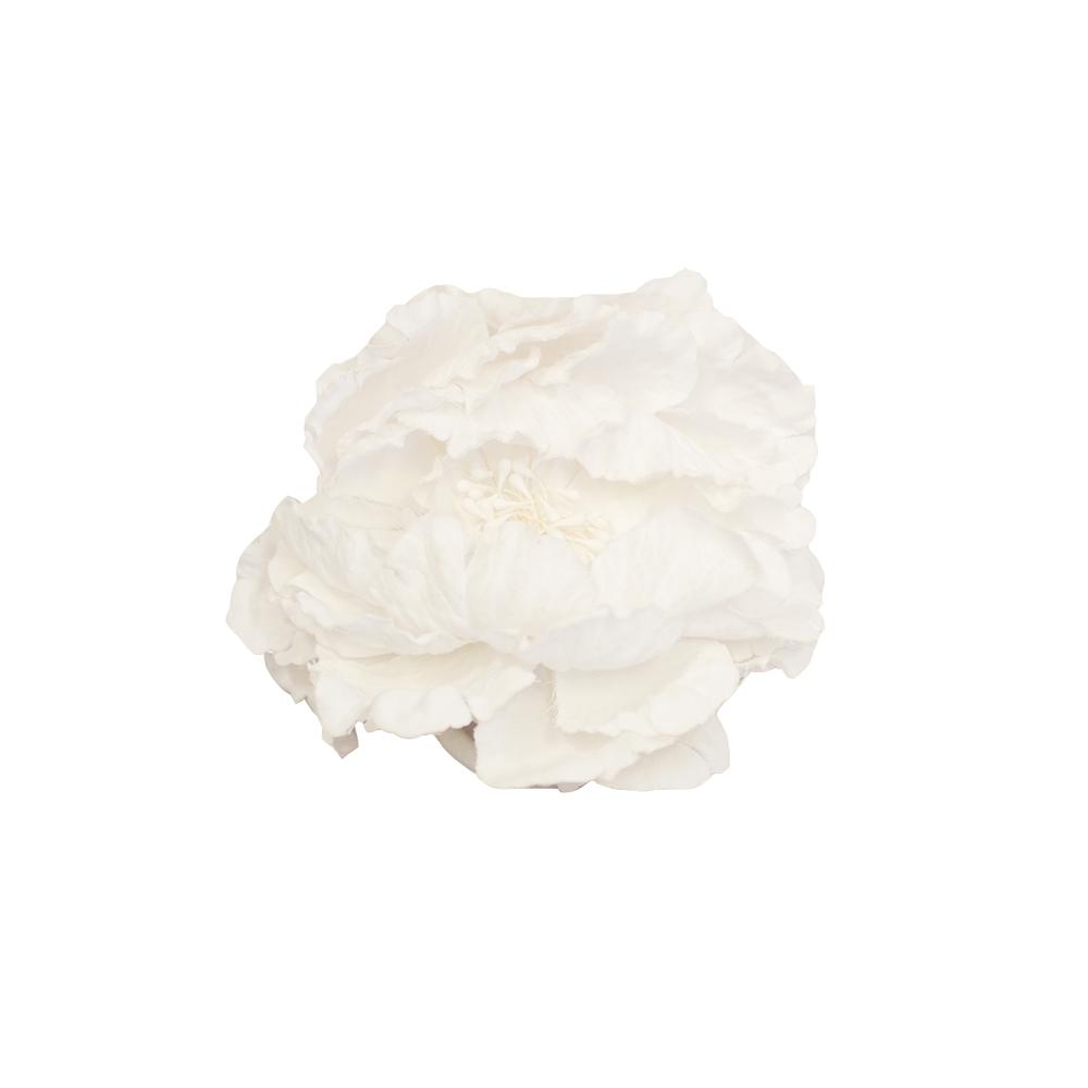 Valkoinen hiuslenkki kukkakoristeella