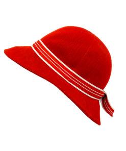 Kangol, punainen kesähattu 70-luvulta