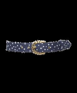 Sininen Polka Dot -kangasvyö