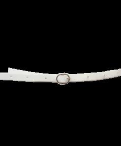 Valkoinen kapea nahkavyö
