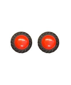 Punaiset nappikorvakorut 80-luvulta