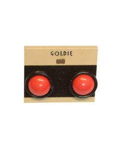 Goldie, puna-mustat korvakorut