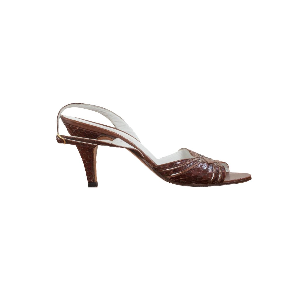 Saroyan, italialaiset ruskeat sandaletit - 38