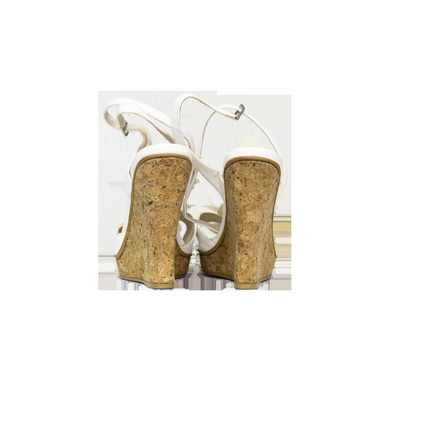 Toleeao, valkoiset kiilakorkosandaletit - 4,5